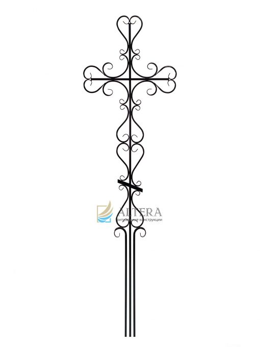 крест фигурный №4, кованный крест, кованые кресты на могилу, крест на кладбище, крест на могилу, крест на памятник, крест художественный, металлические кресты, могильный крест, надгробный крест, православный крест на могилу, альтера, altera, скиб, оптом кресты, москва, тольятти, самара, сызрань, казань, рязань, чебоксары, челябинкс, уфа, оренбург, altera