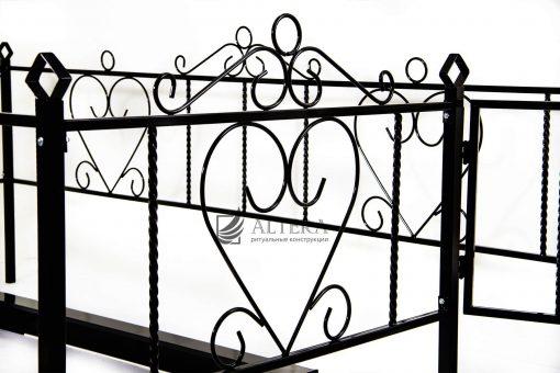 композиция на могилу № 7 стол и лавка, оградка