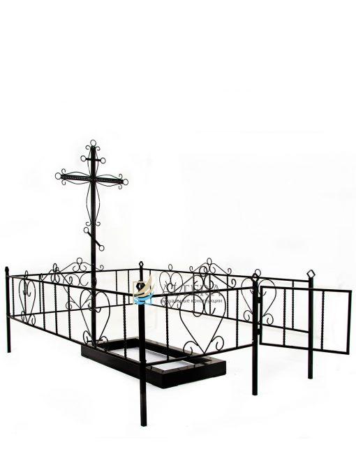 Композиция №7 на могилу из металла, с порошковой краской. Окрашивание на заводе Альтера. Altera Prof