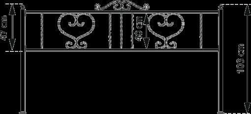 ограда на сердце, металлическая с порошковой краской. Окрашивание на заводе Альтера. Altera Prof